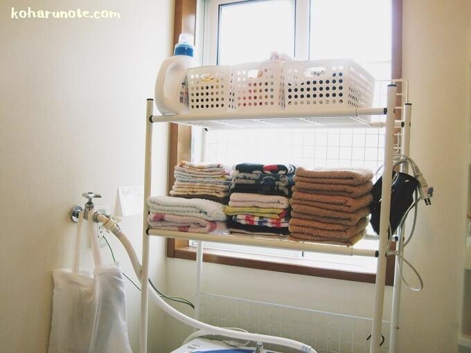 洗面所の収納ラック