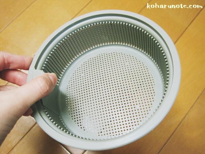 プラスチック製の排水口ゴミ受け