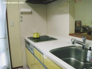 モノを置かないキッチンの調理台