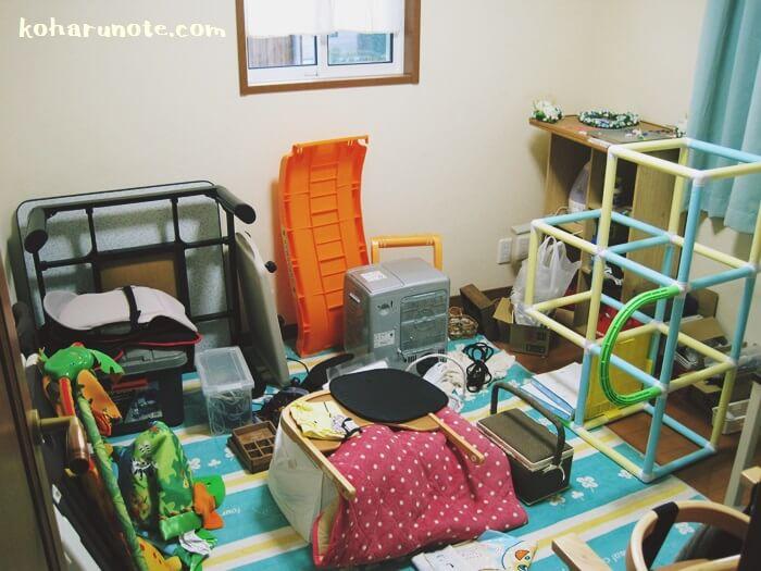お片付け前の物置状態の書斎