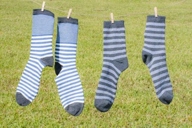 洗濯物の靴下