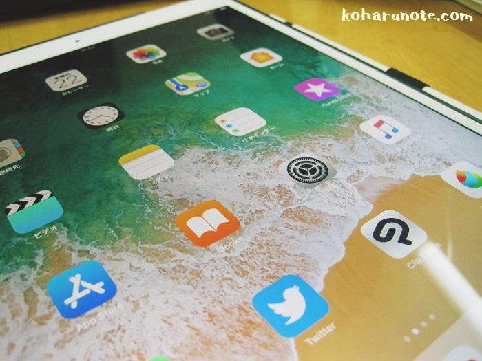 iPad Proの画面を点灯した状態