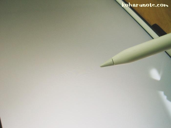 iPad Proの画面とApple pencil