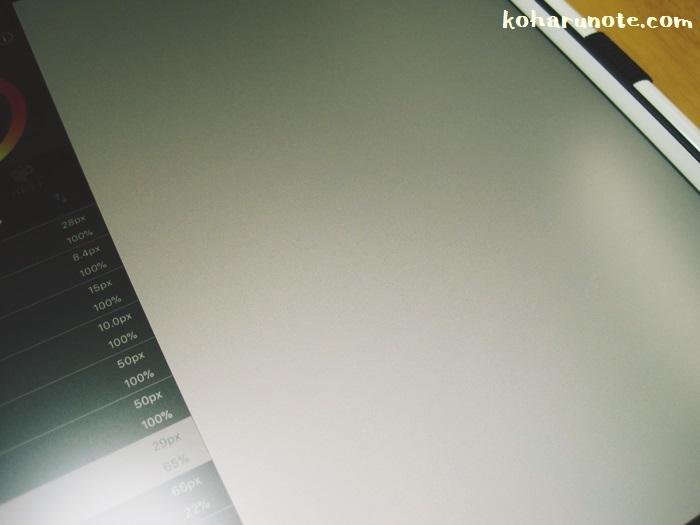 アンチグレアフィルムを貼ったiPad Proでメディバンペイントを起動