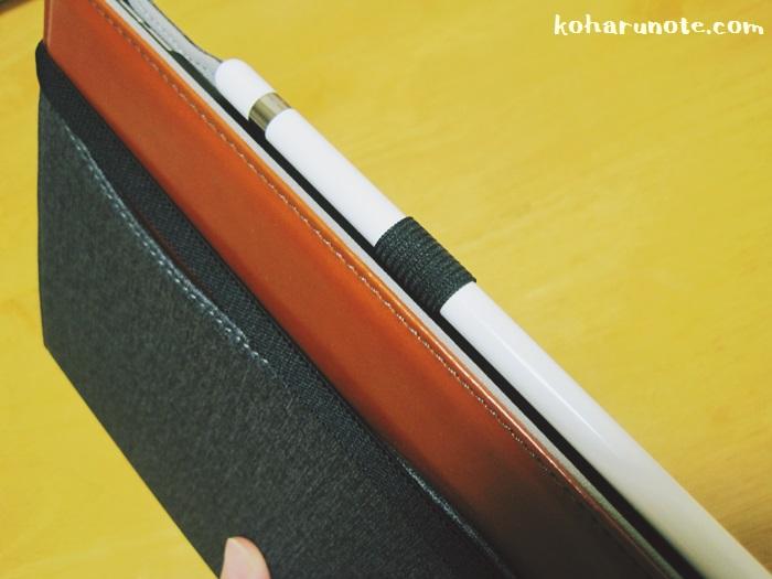 ZtotopのiPad Pro10.5インチ用ケースのApple pencilバンド