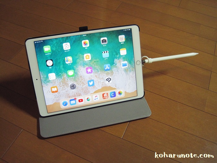 iPad Pro本体に接続して充電するApple pencil