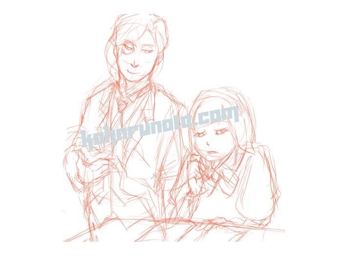 紳士とお嬢様のラフイメージ