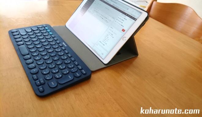 IPad ProとBluetoothキーボード「K380」の組み合わせ